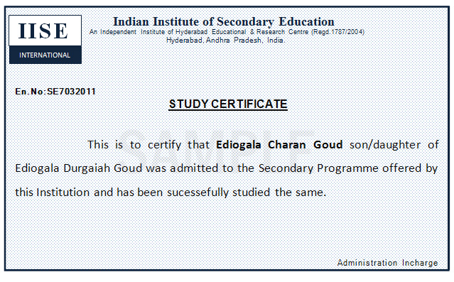 Vocational Training: Vocational Training Certificate